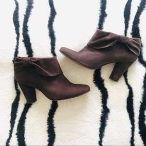Kate Spade Brown Suede Fold Over Ankle Booties
